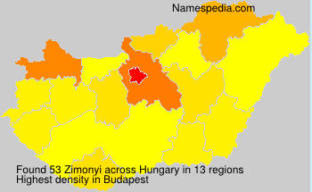 Surname Zimonyi in Hungary