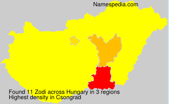Surname Zodi in Hungary
