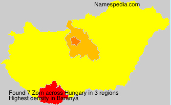 Surname Zorn in Hungary