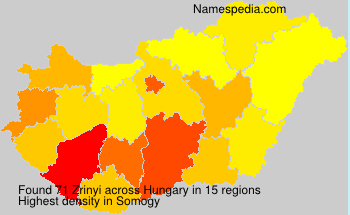 Surname Zrinyi in Hungary