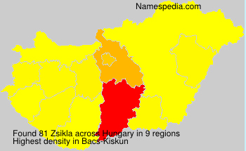 Surname Zsikla in Hungary