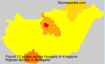 Surname poppe in Hungary