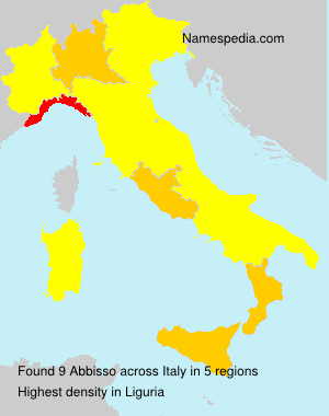 Surname Abbisso in Italy