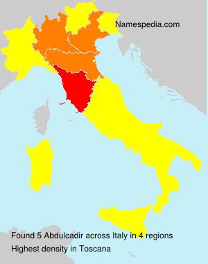 Surname Abdulcadir in Italy