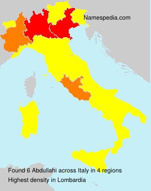 Familiennamen Abdullahi - Italy