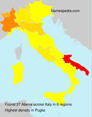 Surname Abena in Italy