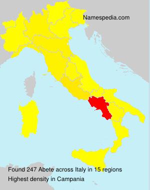 Familiennamen Abete - Italy