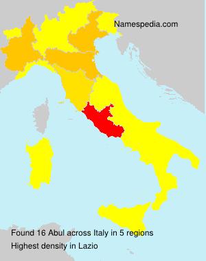 Familiennamen Abul - Italy