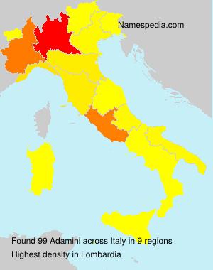 Familiennamen Adamini - Italy