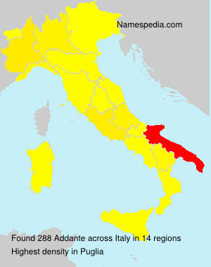 Surname Addante in Italy