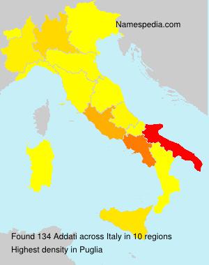 Familiennamen Addati - Italy