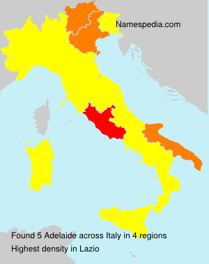 Surname Adelaide in Italy