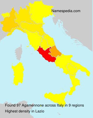 Surname Agamennone in Italy