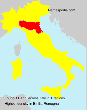 Surname Agni in Italy