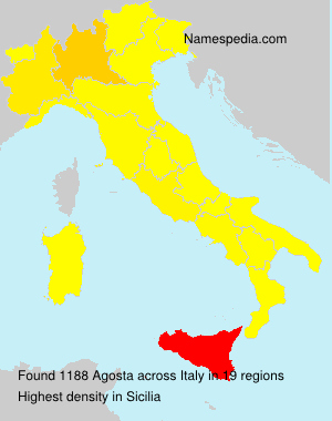 Familiennamen Agosta - Italy