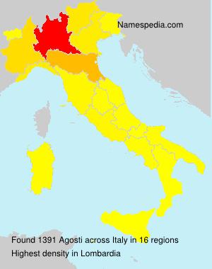 Surname Agosti in Italy