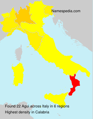 Surname Agui in Italy