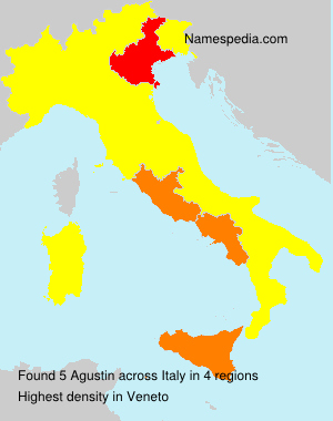 Surname Agustin in Italy