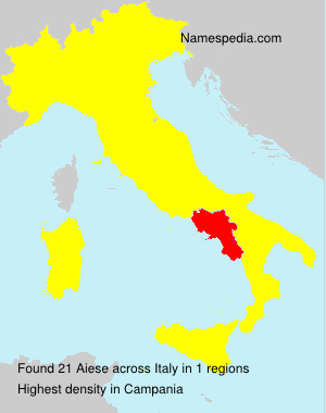 Surname Aiese in Italy
