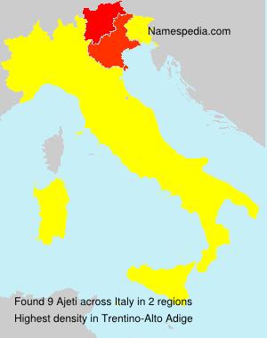 Familiennamen Ajeti - Italy