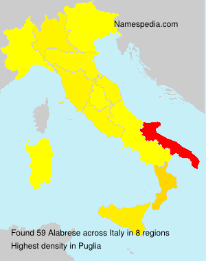 Surname Alabrese in Italy