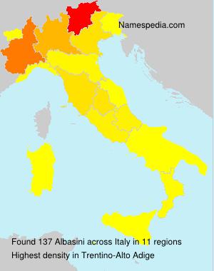 Surname Albasini in Italy