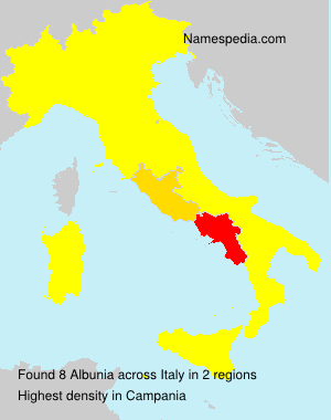Surname Albunia in Italy