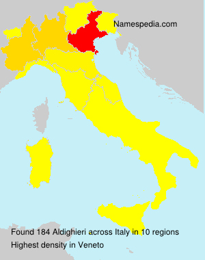 Surname Aldighieri in Italy