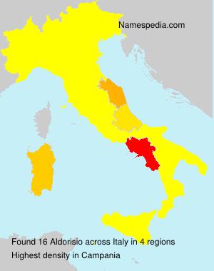Surname Aldorisio in Italy
