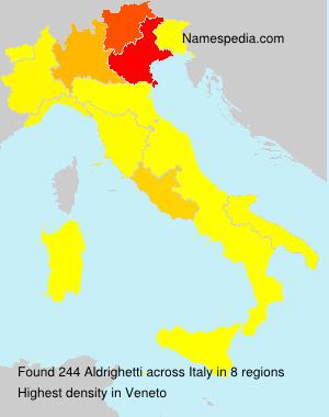 Familiennamen Aldrighetti - Italy
