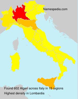 Familiennamen Algeri - Italy