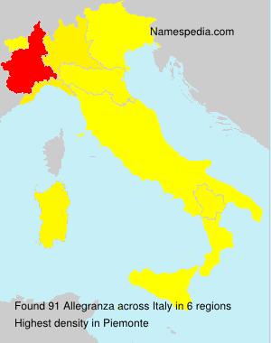 Surname Allegranza in Italy