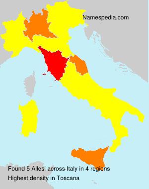 Surname Allesi in Italy