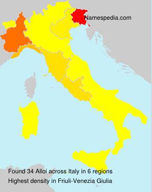 Surname Alloi in Italy