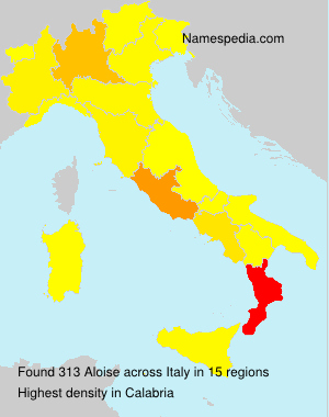 Surname Aloise in Italy