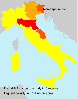 Surname Aman in Italy
