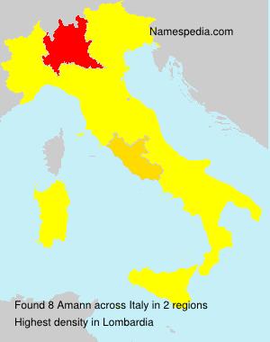 Familiennamen Amann - Italy