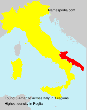 Surname Amanzo in Italy