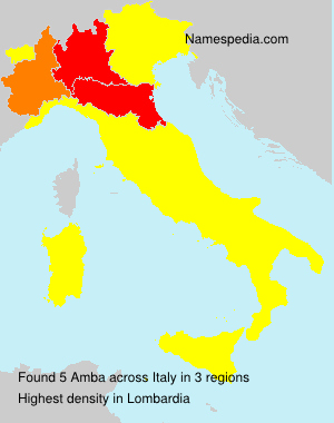 Surname Amba in Italy
