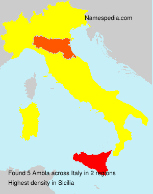 Surname Ambla in Italy