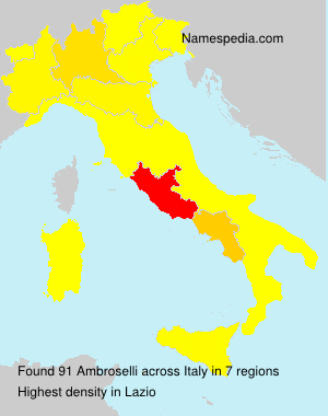 Surname Ambroselli in Italy