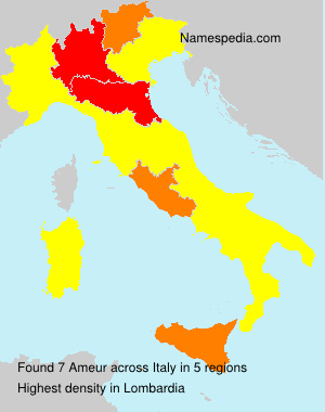 Surname Ameur in Italy