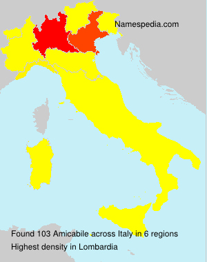 Surname Amicabile in Italy