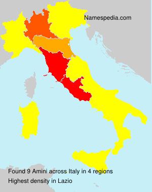 Surname Amini in Italy