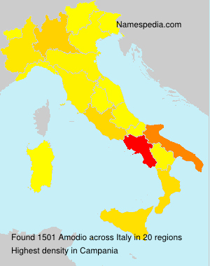 Surname Amodio in Italy