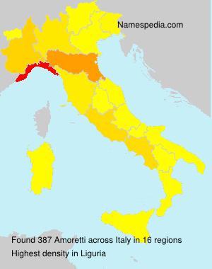 Familiennamen Amoretti - Italy