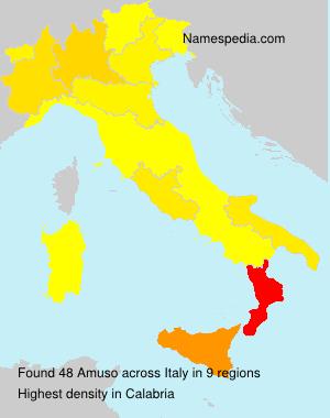 Familiennamen Amuso - Italy