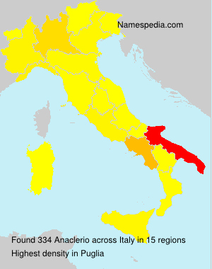 Surname Anaclerio in Italy