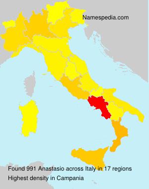 Surname Anastasio in Italy