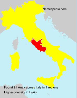 Familiennamen Anav - Italy